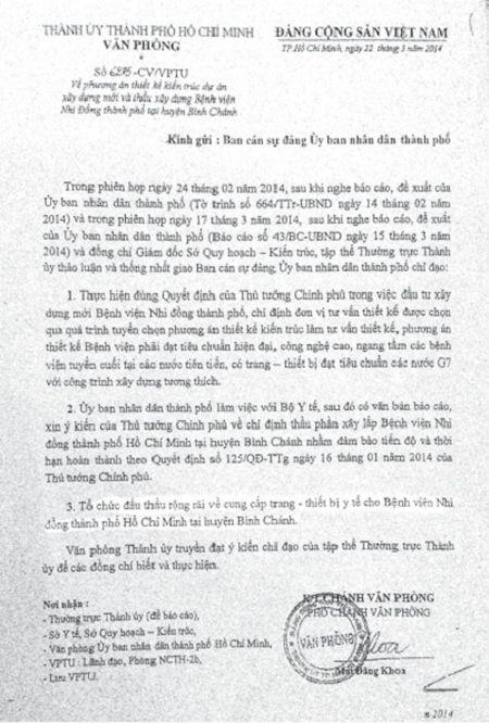 Benh vien Nhi dong TP.HCM va noi lo tri tre du an nghin ty: He lo dau hieu 'khuat tat' giup Sagomed duoc chi dinh thau - Anh 2