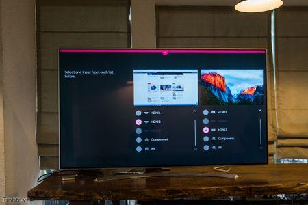 Thu nghiem tinh nang Multi-View tren Smart TV LG 2016: 1 TV chieu thanh 2 man hinh - Anh 3