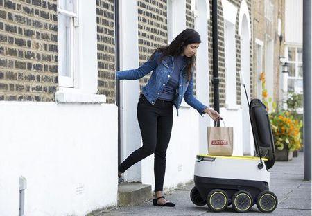 Robot se thay the con nguoi di giao do an tai London - Anh 3