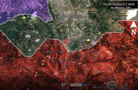 Luc luong Dieu hau Sa mac bat dau cuoc tan cong vao Kinsibba, Latakia (Video) - Anh 1