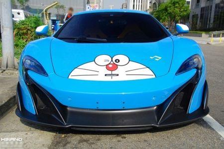McLaren 675LT lot xac trong 'bo canh' meo may Doremon - Anh 2