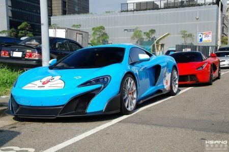 McLaren 675LT lot xac trong 'bo canh' meo may Doremon - Anh 3