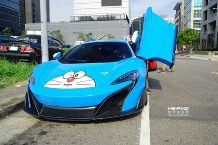 McLaren 675LT lot xac trong 'bo canh' meo may Doremon - Anh 4
