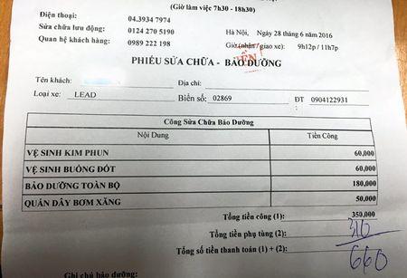'Soc' voi hoa don bao duong xe may gan 4 trieu - Anh 2