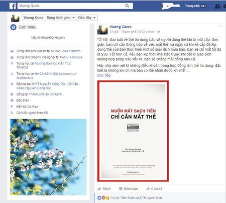 'Muon mat sach tien – chi can mat the tin dung HSBC' - bai viet dang gay bao mang - Anh 1