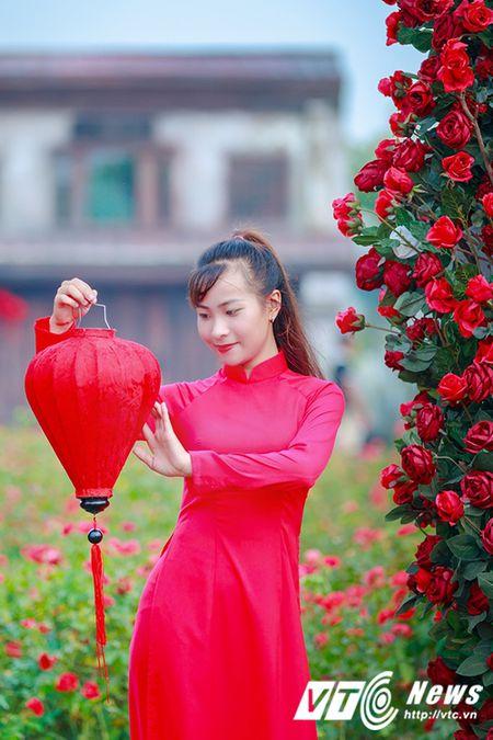 Nu sinh Su pham rang ro trong ta ao dai do don Trung thu - Anh 12
