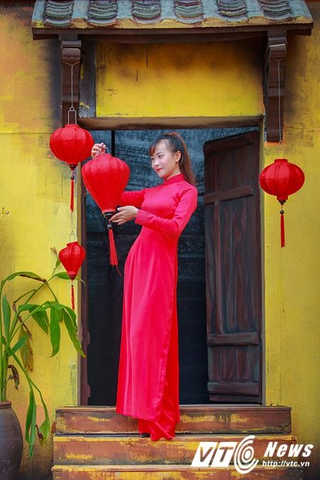 Nu sinh Su pham rang ro trong ta ao dai do don Trung thu - Anh 13