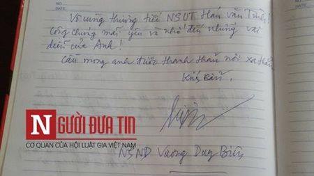 Loi tien biet dam nuoc mat cua dong nghiep viet cho NS Han Van Tinh - Anh 12