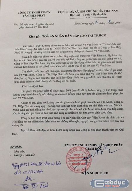 "Truoc phien xu an ""con ruoi"", Tan Hiep Phat xin giam nhe hinh phat cho anh Minh - Anh 1"