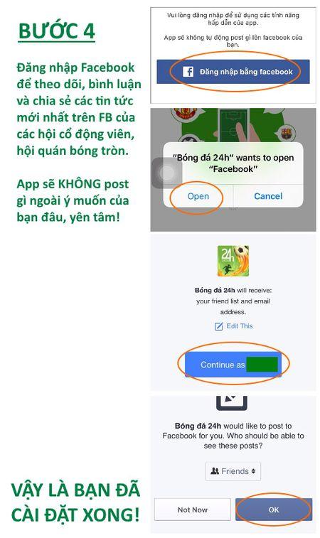 HOT: Huong dan cai dat ung dung bong da 24H - Anh 6