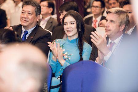 Ly Nha Ky mac ao dai duyen dang gap Tong thong Phap - Anh 4