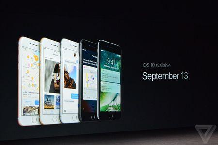 iOS 10 se phat hanh chinh thuc vao ngay 13/9 - Anh 1