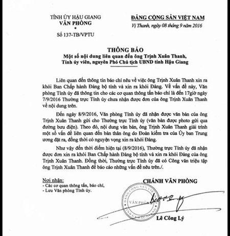 Da nhan duoc don xin ra khoi Dang cua ong Trinh Xuan Thanh - Anh 1