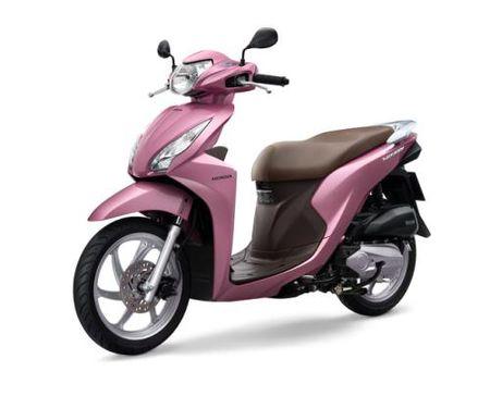 Honda ra mat Vision mau hong, nhieu cai tien voi gia ban khong doi - Anh 1