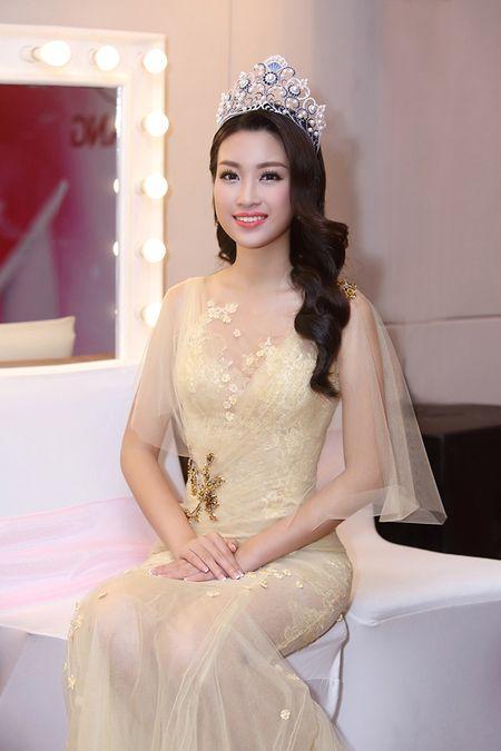 Hoa hau Do My Linh khoe nhan sac 'van nguoi me' trong lan dau di su kien - Anh 1