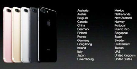 Danh sach cac nuoc duoc mua iPhone 7 va iPhone 7 Plus som nhat - Anh 1