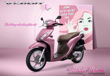 Honda sap ra mat Vision phien ban moi: Them mau hong, gia khong doi - Anh 1