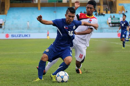 Truc tiep U19 Philippines vs U19 Myanmar giai U19 DNA 2016 - Anh 1