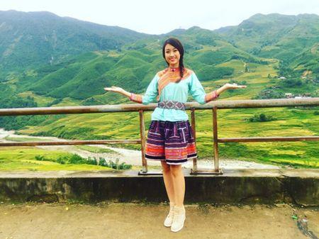 Hoa hau Viet Nam Do My Linh quang ba du lich Sapa - Anh 1