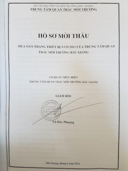 Tiep bai; Bac Giang: Bat thuong sau nhung ket qua quan trac moi truong Thanh tra toan dien Trung tam quan trac - Anh 2