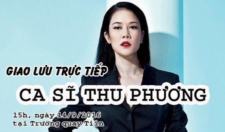 Giao luu truc tiep voi ca si Thu Phuong tai Truong quay Tiin - Anh 1