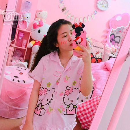 Loa mat truoc can phong mau hong Kitty cua 9x Da Nang - Anh 1