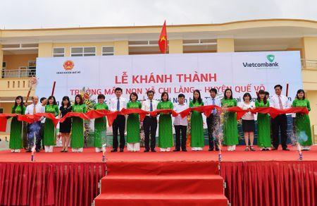 Vietcombank tai tro xay dung truong hoc tai Bac Ninh - Anh 1