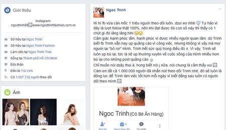 Ngoc Trinh tu vo mong khi bi trai la cham choc, mung Facebook co 1 trieu follow - Anh 2