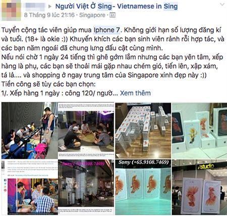 Nguoi Viet chi tien trieu thue xep hang mua iPhone 7 o Singapore - Anh 2