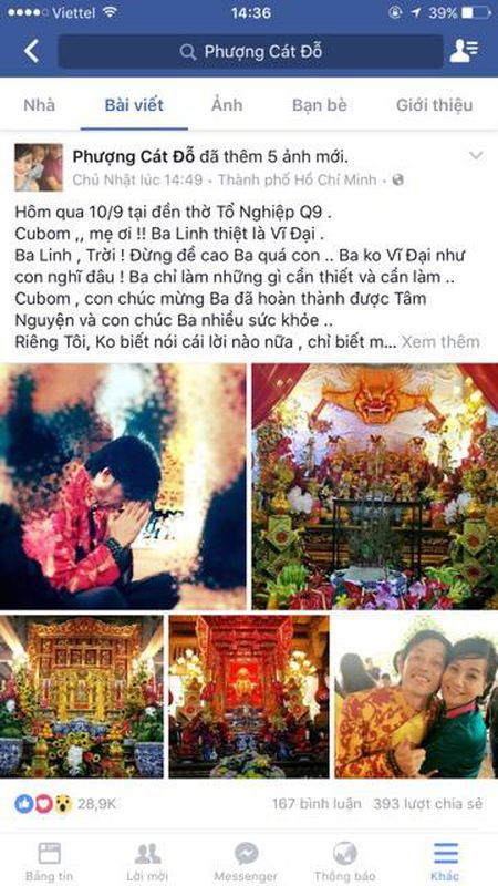 """Cat Phuong """"noi doa"""" khi Hoai Linh bi to xay nha tho to de kinh doanh - Anh 1"""
