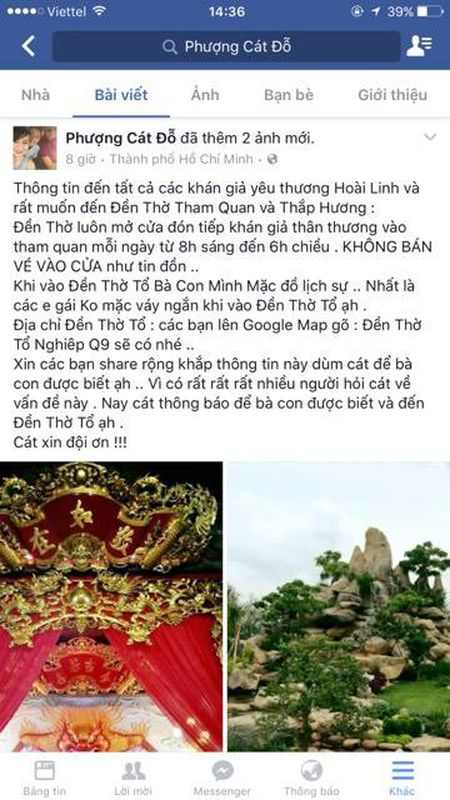 """Cat Phuong """"noi doa"""" khi Hoai Linh bi to xay nha tho to de kinh doanh - Anh 2"""