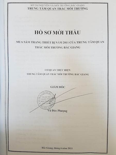 Trung tam quan trac tinh Bac Giang: Dau thau cong khai nhung tiep thi luon san pham se trung thau! - Anh 1