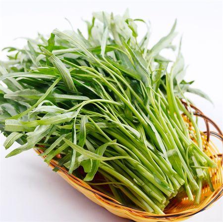 Khong co co so khang dinh an rau muong chua chin dan den xo gan - Anh 1