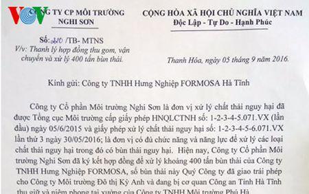 Thanh Hoa: Cham dut hop dong xu ly 400 tan chat thai cua Formosa - Anh 1