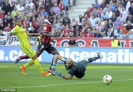 Balotelli lap cong, Nice gianh chien thang huy diet truoc Nantes - Anh 1
