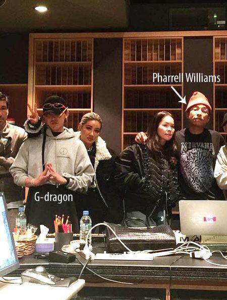 G-Dragon va T.O.P (Big Bang) hop tac voi ong hoang hip-hop My Pharrell Williams - Anh 2