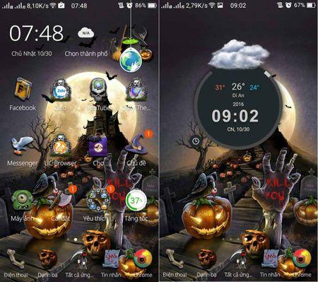 Cach hoa trang smartphone kinh di mua Halloween - Anh 2