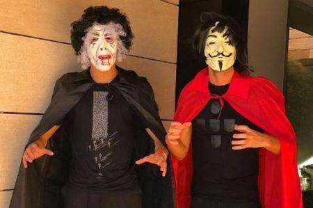 'Thay ma' Ronaldo, 'Nguoi doi' Firmino khuay dong le Halloween - Anh 1