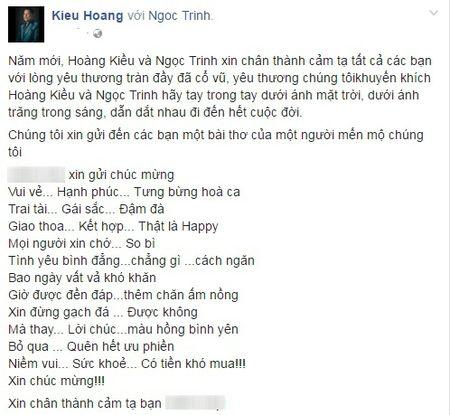 Ty phu Hoang Kieu lam tho ngon tinh ve cuoc tinh voi Ngoc Trinh - Anh 2