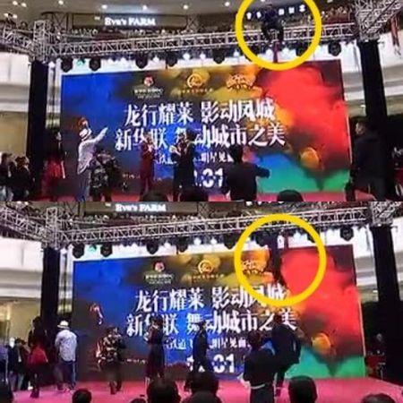Thanh Long bo chay khi mot nguoi dan ong nhay tu do cao 5 m - Anh 2