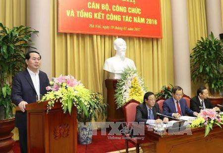 Nang cao chat luong cong tac tham muu, phuc vu cua Van phong Chu tich nuoc - Anh 1