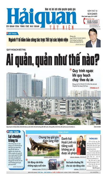 Nhung tin, bai hap dan tren Bao Hai quan so 9 phat hanh ngay 22-1-2017 - Anh 1