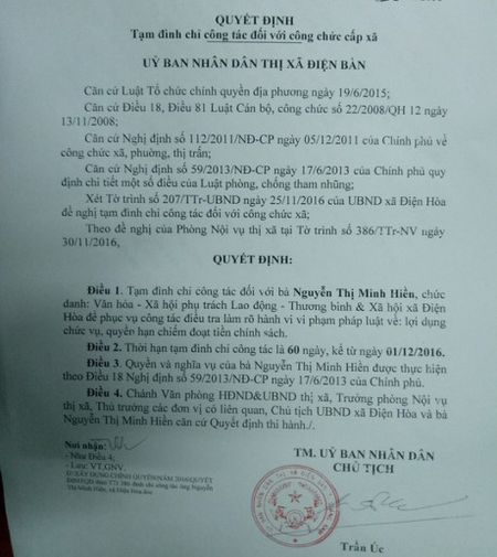 Quang Nam: Khoi to nu can bo an chan tien tho cung liet si - Anh 1