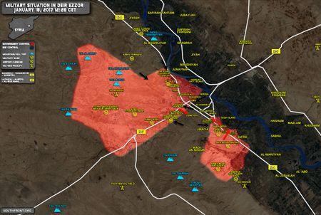 Quan doi Syria tan cong manh o chien truong Palmyra va ngoai o Damascus - Anh 1