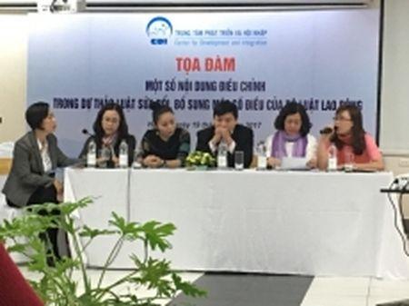 Toa dam 'Mot so noi dung dieu chinh trong du thao Luat sua doi, bo sung mot so dieu cua Bo luat Lao dong' - Anh 1