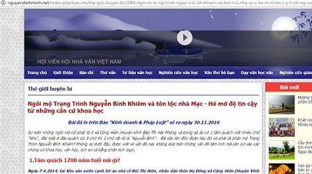 Di tim su that chuyen tim thay mo Trang Trinh Nguyen Binh Khiem o Hai Phong - Anh 2