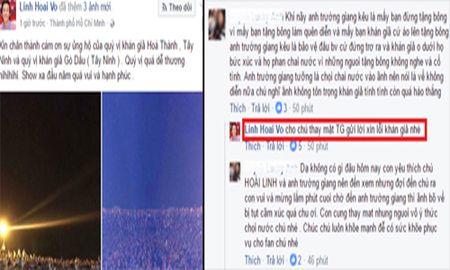 Truong Giang bo dien khi bi nem chai tren san khau: Hoai Linh len tieng xin loi - Anh 1