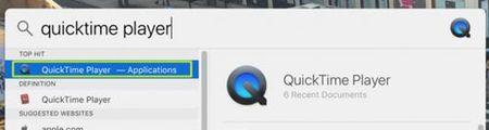 Quay man hinh Macbook cuc de voi QuickTime Player - Anh 1