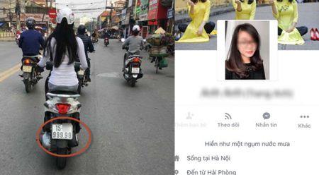 Co gai Hai Phong chay xe may bien 999.99 van nguoi muon xem mat - Anh 1