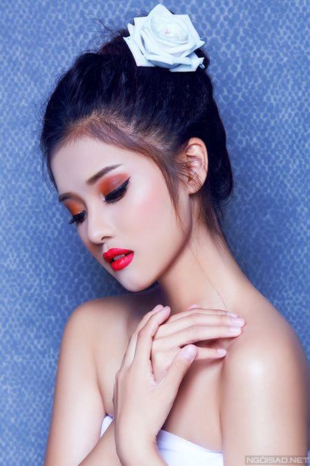 Ngam Hoang Yen Chibi xinh dep khac thuong voi kieu trang diem tong cam - Anh 6